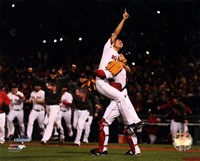 Koji Uehara & David Ross celebrate winning Game 6 of the 2013 World Series Fine Art Print