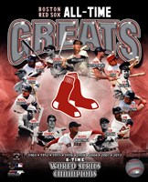 Boston Red Sox All Time Greats Composite Fine Art Print