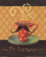 Cafe Moustache III Fine Art Print