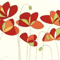 Poppy Field Square I Fine Art Print