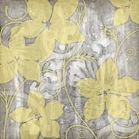 Yellow & Gray I by Jennifer Goldberger - various sizes, FulcrumGallery.com brand