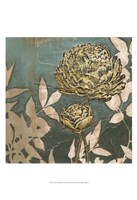 """Peony on Blue II by Megan Meagher - 13"""" x 19"""""""