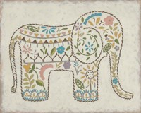 Laurel's Elephant I Framed Print