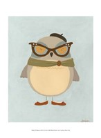 """Hipster Owl I by June Erica Vess - 10"""" x 13"""""""