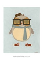 """Hipster Owl II by June Erica Vess - 10"""" x 13"""""""