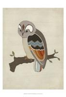 "Chevron Owl II by June Erica Vess - 13"" x 19"""