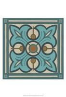 "Piazza Tile in Blue II by June Erica Vess - 13"" x 19"""