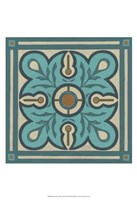 Piazza Tile in Blue III Fine Art Print