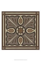 Piazza Tile in Brown I Framed Print