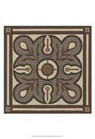 Piazza Tile in Brown III Fine Art Print