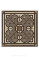 Piazza Tile in Brown IV Framed Print