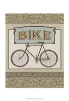 "Bike by June Erica Vess - 13"" x 19"", FulcrumGallery.com brand"