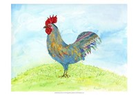 """19"""" x 13"""" Rooster Art"""