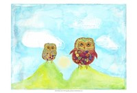 """19"""" x 13"""" Owl Pictures"""