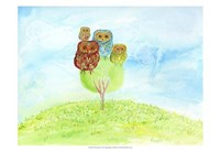 Owl Family Fine Art Print