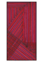 """Line Study Red by Charles McMullen - 13"""" x 19"""", FulcrumGallery.com brand"""