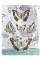 "Butterflies & Filigree II by Jennifer Goldberger - 13"" x 19"""