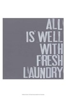 Fresh Laundry I Fine Art Print