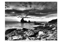 B&W Tide Pools & Rocks Fine Art Print