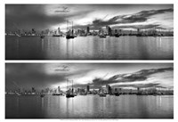 Sunset Panorama Harbor Fine Art Print