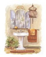 Watercolor Bath in Spice I Framed Print
