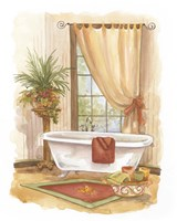 Watercolor Bath in Spice II Fine Art Print