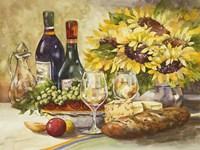 Wine & Sunflowers Fine Art Print