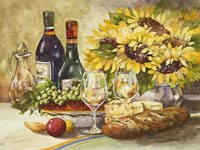 Wine & Sunflowers Fine Art Print