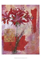 """Magenta Flower Collage I by Timothy O'Toole - 13"""" x 19"""", FulcrumGallery.com brand"""