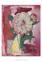 """Magenta Flower Collage II by Timothy O'Toole - 13"""" x 19"""", FulcrumGallery.com brand"""