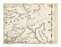 Map of Europe Grid VI Fine Art Print