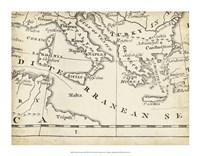 Map of Europe Grid VIII Fine Art Print