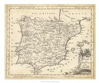 Map of Spain Fine Art Print