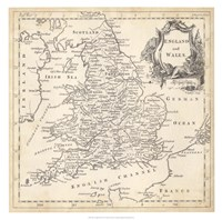 Map of England & Wales Fine Art Print