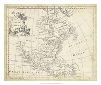 """Map of North America by T Jeffreys - 26"""" x 22"""""""