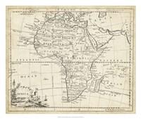 Map of Africa Framed Print