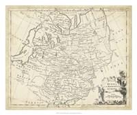 Map of Russia Fine Art Print