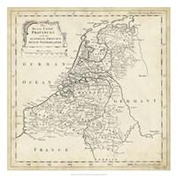 Map of Netherlands Fine Art Print