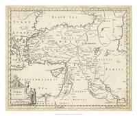 Map of Turkey in Asia Fine Art Print
