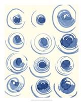 "Macrame Blue II by Vanna Lam - 18"" x 22"", FulcrumGallery.com brand"