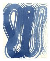 "Macrame Blue V by Vanna Lam - 18"" x 22"", FulcrumGallery.com brand"