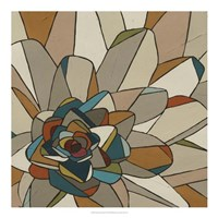 Stained Glass Floral II Framed Print