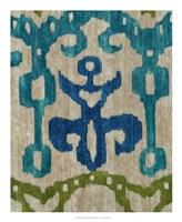 "Teal Ikat III by Chariklia Zarris - 18"" x 22"" - $27.99"