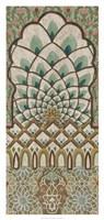 Peacock Tapestry I Framed Print