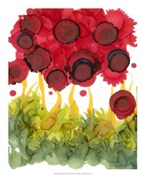 "Poppy Whimsy VI by Cheryl Baynes - 18"" x 22"""