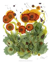 "Poppy Whimsy VII by Cheryl Baynes - 18"" x 22"""