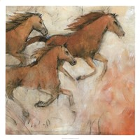 "Horse Fresco II by Timothy O'Toole - 26"" x 26"""