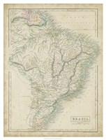 Map of Brazil Fine Art Print
