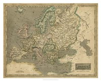 Thomson's Map of Europe Fine Art Print