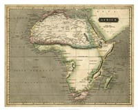 Thomson's Map of Africa Fine Art Print
